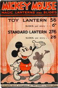 Animation Art:Poster, Mickey Mouse Magic Lantern Poster and Flyer (Ensign/Walt DisneyLtd., c. 1930s).... (Total: 2 Items)