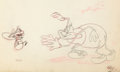 Animation Art:Production Drawing, Meatless Friday Spider and Fly Production Drawing (WarnerBrothers, 1944)....