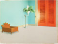 Animation Art:Painted cel background, Golden Yeggs Background Original Art (Warner Brothers,1950)....