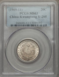 China:Kwangtung, China: Kwangtung 20 Cents ND (1909-11) MS63 PCGS,...