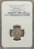 Argentina, Argentina: Cordoba Real 1848 VF Details (Surface Hairlines) NGC,...