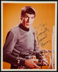 "Movie Posters:Science Fiction, Leonard Nimoy as Spock in Star Trek (Paramount, 1967). AutographedPublicity Photo (8"" X 10""). Science Fiction.. ..."