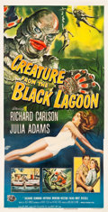 "Movie Posters:Horror, Creature from the Black Lagoon (Universal International, 1954).Three Sheet (41.25"" X 80"").. ..."