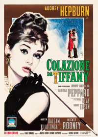 "Breakfast at Tiffany's (Paramount, 1962). Italian 2 - Foglio (39"" X 54.5"")"