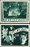 "Movie Posters:Horror, Frankenstein (Universal, R-1938). Title Lobby Card and Lobby Card(11"" X 14"").. ... (Total: 2 Item)"