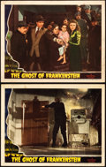 "Movie Posters:Horror, The Ghost of Frankenstein (Universal, 1942). Lobby Cards (2) (11"" X14"").. ... (Total: 2 Items)"