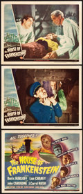 """Movie Posters:Horror, House of Frankenstein (Universal, 1944). Title Lobby Card and LobbyCards (2) (11"""" X 14"""").. ... (Total: 3 Items)"""