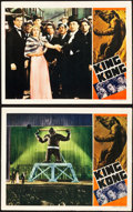 "Movie Posters:Horror, King Kong (RKO, R-1938). Lobby Cards (2) (11"" X 14"").. ... (Total:2 Items)"