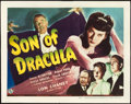 """Movie Posters:Horror, Son of Dracula (Universal, 1943). Title Lobby Card (11"""" X 14"""").. ..."""