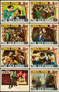 "Movie Posters:Swashbuckler, The Sea Hawk (Warner Brothers, 1940). Lobby Card Set of 8 (11"" X 14"").. ... (Total: 8 Items)"