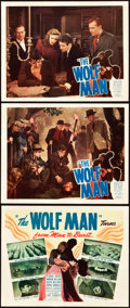 "Movie Posters:Horror, The Wolf Man (Realart, R-1948). Title Lobby Card and Lobby Cards(2) (11"" X 14"").. ... (Total: 3 Items)"