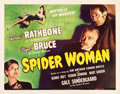 "Movie Posters:Mystery, The Spider Woman (Universal, 1944). Half Sheet (22"" X 28"").. ..."
