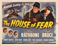 "Movie Posters:Mystery, The House of Fear (Universal, 1945). Half Sheet (22"" X 28"").. ..."