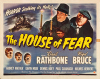"""The House of Fear (Universal, 1945). Half Sheet (22"""" X 28"""")"""