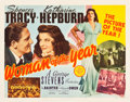 """Movie Posters:Comedy, Woman of the Year (MGM, 1942). Half Sheet (22"""" X 28"""") Style A.. ..."""