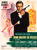 "Movie Posters:James Bond, From Russia with Love (United Artists, 1964). French Grande (46"" X62"").. ..."