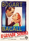 "Movie Posters:Film Noir, The Big Sleep (Warner Brothers, 1946). Italian 2 - Foglio (39"" X55"").. ..."