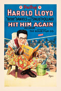 "Movie Posters:Comedy, Hit Him Again (Pathe Exchange, R-1920s). One Sheet (27.25"" X 41"")....."
