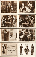 "Movie Posters:Comedy, A Dog's Life (First National, 1918). Lobby Card Set of 8 (11"" X14"").. ... (Total: 8 Items)"