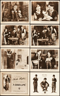 """A Dog's Life (First National, 1918). Lobby Card Set of 8 (11"""" X 14""""). ... (Total: 8 Items)"""