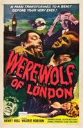 "Movie Posters:Horror, Werewolf of London (Realart, R-1951). One Sheet (27"" X 41.5"").. ..."