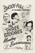 "Movie Posters:Short Subject, Monkey Businessmen (Columbia, 1946). One Sheet (27"" X 41"").. ..."