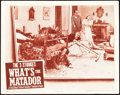 "Movie Posters:Comedy, What's the Matador? (Columbia, 1942). Lobby Card (11"" X 14"").. ..."