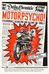 """Motor Psycho! (Eve Productions, 1965). One Sheet (27"""" X 41"""")"""