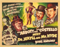 "Movie Posters:Comedy, Abbott and Costello Meet Dr. Jekyll and Mr. Hyde (UniversalInternational, 1953). Half Sheet (22"" X 28"") Style A, and Insert...(Total: 2 Items)"
