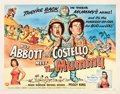 """Movie Posters:Comedy, Abbott and Costello Meet the Mummy (Universal International, 1955).Half Sheet (22"""" X 28"""") Style A and Style B.. ... (Total: 2 Items)"""