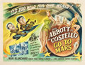 """Movie Posters:Comedy, Abbott and Costello Go to Mars (Universal International, 1953).Half Sheet (22"""" X 28"""") Style A and Style B.. ... (Total: 2 Items)"""