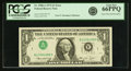 Error Notes:Inverted Third Printings, Fr. 1908-A $1 1974 Federal Reserve Note. PCGS Gem New 66PPQ.. ...