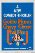 "Movie Posters:Comedy, Foul Play (Paramount, 1978). One Sheets (2) (27"" X 41"") Advance and Regular, Uncut Pressbook (16 Pages, 8.5"" X 11"") & Ad Sli... (Total: 4 Items)"