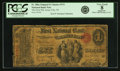 National Bank Notes:New Jersey, Jersey City, NJ - $1 Original Fr. 380a The First NB Ch. # 374 PCGS Very Good 8 Apparent.. ...