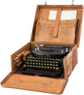 "Movie/TV Memorabilia:Memorabilia, A Sidney Howard Portable Typewriter Used to Type the Screenplay to""Gone With The Wind,"" 1930s...."