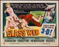 "Movie Posters:Crime, The Glass Web (Universal International, 1953). Half Sheet (22"" X 28"") 3-D Style A. Crime.. ..."