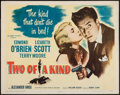 """Movie Posters:Crime, Two of a Kind (Columbia, 1951). Half Sheet (22"""" X 28""""). Crime.. ..."""