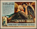 """Movie Posters:Crime, The Unholy Wife (RKO, 1957). Half Sheet (22"""" X 28""""). Crime.. ..."""