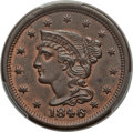 Large Cents: , 1846 1C Small Date MS64 Brown PCGS. PCGS Population (31/13). NGC Census: (33/29). Mintage: 4,120,800. Numismedia Wsl. Price...