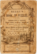 Books:Americana & American History, Robert Merry and Hiram Hatchet. Merry's Book of Puzzles. New York: Dayton and Burdick, 1857. Lacking rear wrapper an...