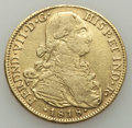 Colombia, Colombia: Ferdinand VII gold 8 Escudos 1818 NR-JF VF - Surface Abrasions,...