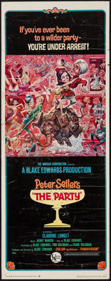 """The Party (United Artists, 1968). Insert (14"""" X 36""""). Comedy"""