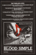 """Movie Posters:Thriller, Blood Simple (Circle Films, 1985). Poster (24"""" X 36.5""""). Thriller....."""