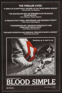 """Blood Simple (Circle Films, 1985). Poster (24"""" X 36.5""""). Thriller"""