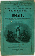 Books:Americana & American History, [Almanac] The American Anti-Slavery Almanac for 1841. NewYork: S. W. Benedict, 1841. 36 pages. Original wrappers. S...