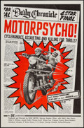 "Movie Posters:Exploitation, Motor Psycho! (Eve Productions, 1965). One Sheet (27"" X 41"") &Photos (10 (8"" X 10""). Exploitation.. ... (Total: 11 Items)"