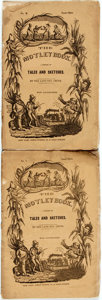 Books:Literature Pre-1900, Ben Smith. The Motley Book. A Series of Tales and Sketches,No. I and II. New York: James Turney, 1838. ... (Total: 2Items)