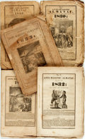 Books:Americana & American History, [Almanacs] Edward Giddins. Group of Five Anti-Masonic Almanacs.Rochester: Edwin Scranton, 1829-1833. Original stitched wrap...(Total: 5 Items)