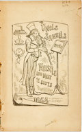 Books:Literature Pre-1900, Author Unknown. Uncle Samuel's Whistle; And What It Costs. ATale. [N.p.], 1864. Wrappers lacking; disbound. 45 page...