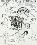 animation art:Model Sheet, Silly Symphonies Studio Model Sheet Group (Walt Disney,1938).... (Total: 3 Items)